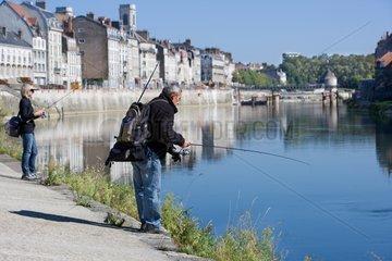 Street fishing in Besancon France Franche-Comté