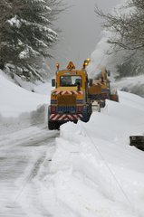 Plowing of Ridge Road in the Hautes-Vosges France