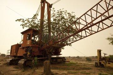 Shipyard abandoned Jonglei Canal in southern Sudan