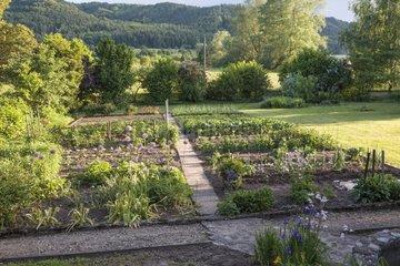 Mountain kitchen garden in Stuttgart region Germany