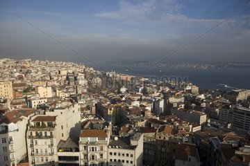 Districts of Galata and Taksim in Istanbul Turkey