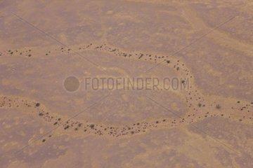 Aerial view of Sossusvlei Namib-Naukluft Namibia