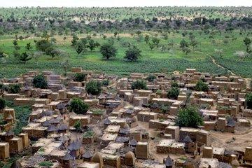Village houses and granaries Mil Teli Dogon Mali