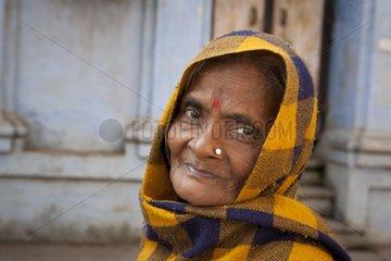 Portrait of an old Woman Varanasi India