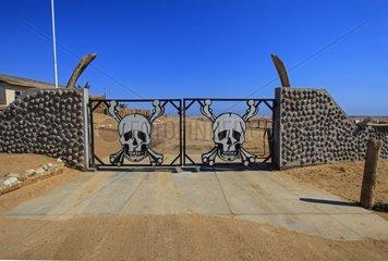 Gate of Skeleton Coast National Park Namibia