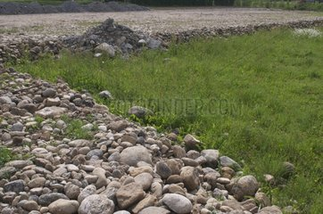Stoning of arable land for construction France