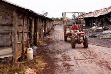 Tractor to transport salt Mine salt Kohk Saath Laos
