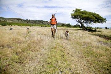 Rabbit Hunter and his dog New Caledonia