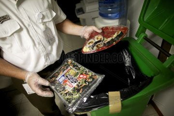 Interception of fresh produce in the luggage of a passenger