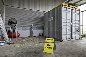 Fumigation of cargo infected by exotic species New Caledonia