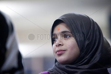 Veiled girl Palestinian Camp Burj el-Barajneh in Beirut