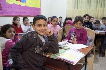 Children in primary school Sabra and Shatila Camp Lebanon