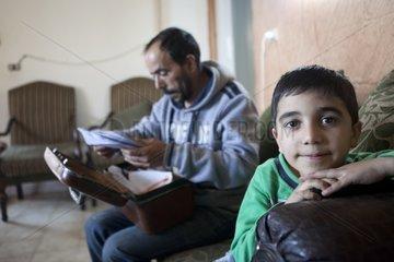Refugees seeking papers Camp Sabra and Shatila in Lebanon