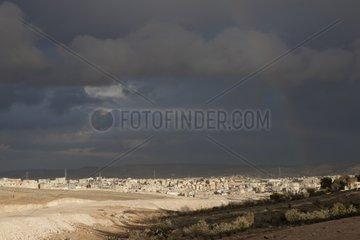 The Marka refugee camp at northeast of Amman Jordan