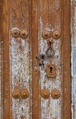 Old door detail at Pesquera de Ebro Spain