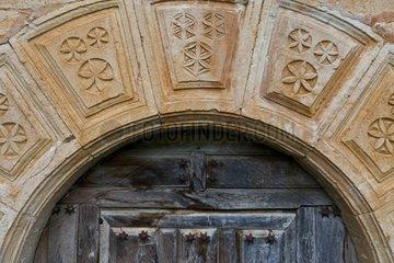 Antique door at Pesquera de Ebro Spain