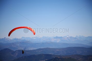 Paragliding over the Mont Ventoux Provence France