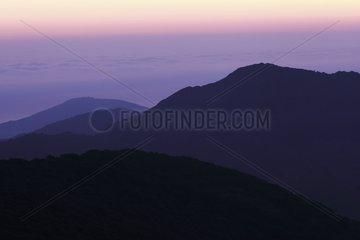 Massif Albères ar dawn Pyrenees France