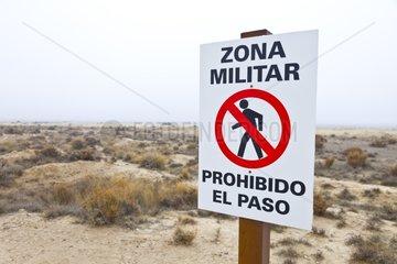 Military zone PN Bardenas Reales Navarra Spain
