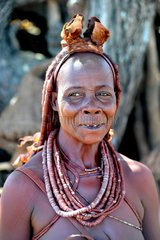 Portrait of a Himba woman married Namibia