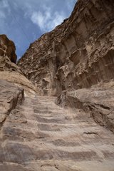 Rocks around the ancient city of Petra in Jordan
