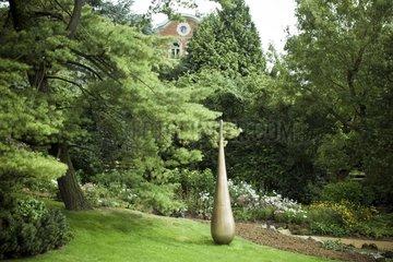 Sculpture at Van Buuren garden in Bruxelles Belgium