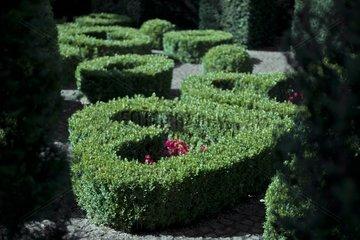 Labyrinth at Van Buuren garden in Bruxelles Belgium