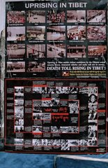 Poster about chinese uprising in Tibet