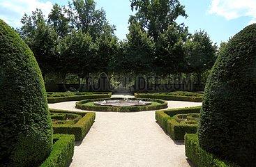 Cloister garden of the church Notre-Dame de Marmande-France