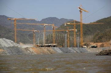 Construction of the Xayaburi Dam on the Mekong Laos