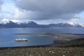 Cruise ship at Deception Island South Shetland