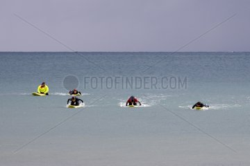 Lifeguards from examination in the Channel France