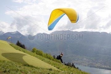 Paragliding Forclaz Pass Alpes France