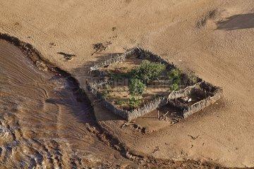 Farm on the banks of river Kuiseb Namib Desert Namibia