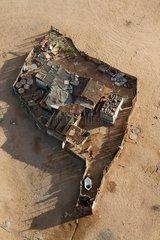 Housing at the edge of the Namib Desert Namibia