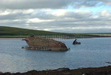 Scapa Flow wreck ship Mainland Orkney Scotland