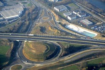 Exchanger on the A36 in Montbéliard - Franche-Comté France