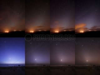 Zodiacal lights of morning and evening
