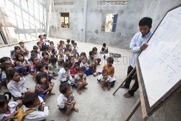 School of countryside north of Phnom Penh Cambodia