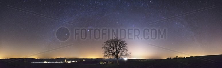 Zodiacal light and the arch of the Milky Way