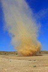 Small tornado of sand in the Kalahari Desert South Africa
