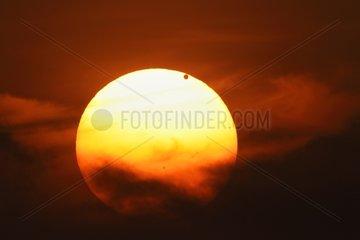 Transit of Venus with the Sun Barcelona Catalonia Spain