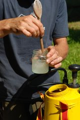 Mixing of an essential oil based natural insecticide