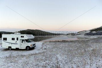 Camper at Lake Reesor Cypress Mountain Canada