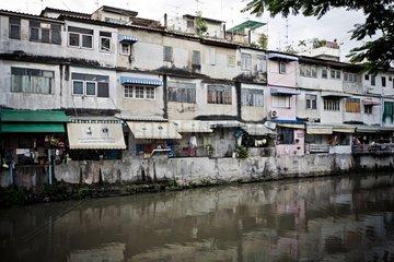 Habitation near the river Chao Phraya in Thailand