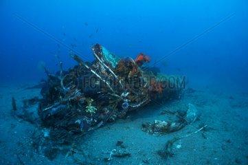 Wreck of B24 in the Bay of Agay - Mediterranean Sea France