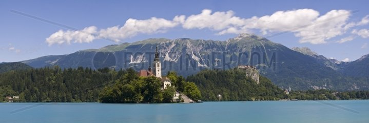 Church of the Assumption on Lake Bled Slovenia