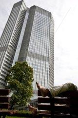 Business district in Frankfurt Germany