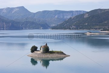 Chapelle Saint-Michel Lake Serre-Ponçon Alpes France