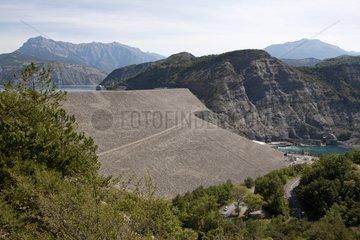 Embankment Dam Serre-Ponçon Alpes France